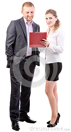 Two Young Office Workers Royalty Free Stock Images - Image: 28181489