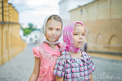 Two young sisters