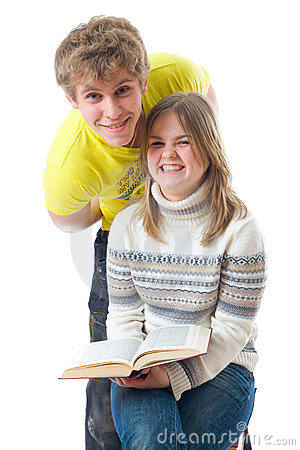 The two young students