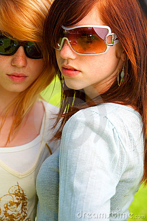 Two young teens