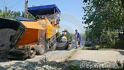 Tworzyć nową asfalt powierzchnię zbiory wideo
