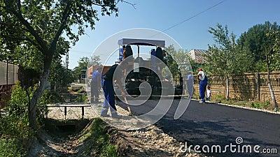 Tworzyć nową asfalt powierzchnię zbiory