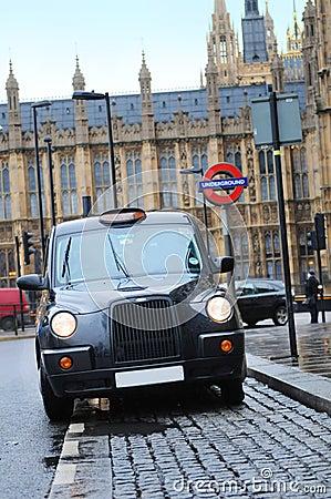 Táxi de Londres Foto de Stock Editorial