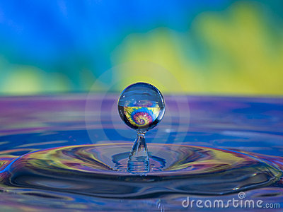 Tye dye water drop