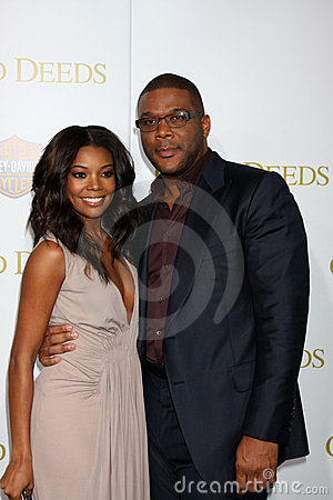 Tyler Perry, Gabrielle Union Editorial Image