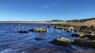 Tylosand beach, one of Swedens most popular beaches located in Tylosand, Halmstad, Sweden.  stock footage