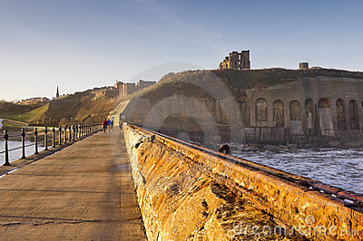 Tynemouth priory and castle from north pier