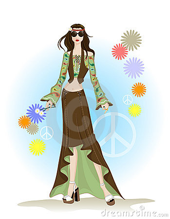 Type de hippie de mode