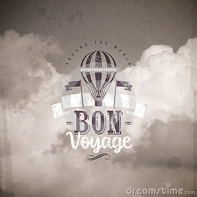 Free Type Design With Vintage Hot Air Balloon Royalty Free Stock Images - 41574229