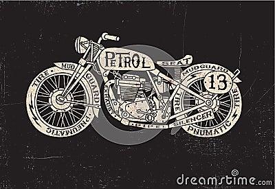 Type Filled Vintage Motorcycle