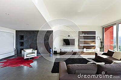 Type moderne, salle de séjour