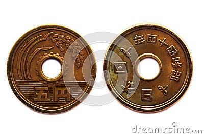 Type oriental de pièce de monnaie