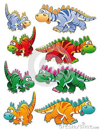 Typen der Dinosauriere