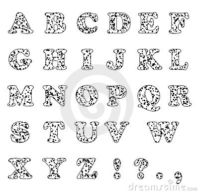 Typeset of dalmatian letters