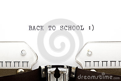 Typewriter Back To School