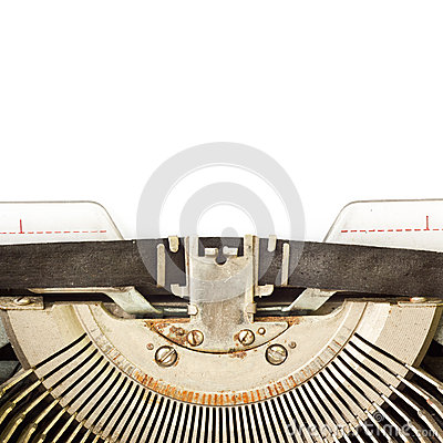 Typewriter with blank sheet