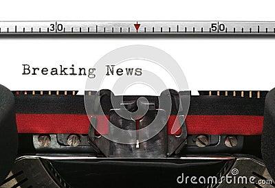 Typewriter Breaking News