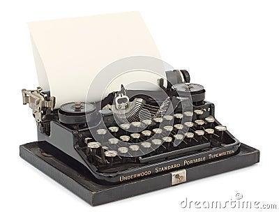 Typewriter Close-up