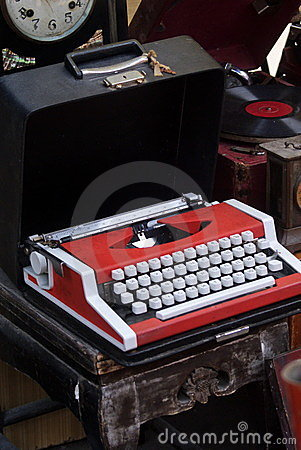 Typewriter in the flea market