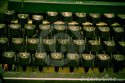 Typewriter keyboard - author concept
