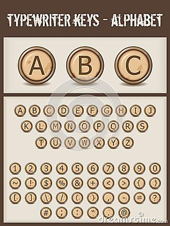Typewriter keys- alphabet