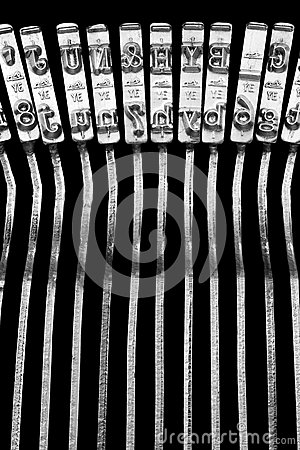 Typewriter typebars