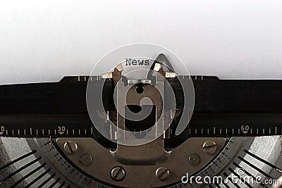 Typewriter typing news
