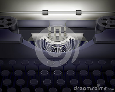 Typewriter.  Vector illustration.
