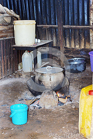 Typical African kitchen