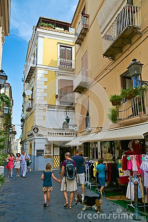 Typical alley in Sorrento