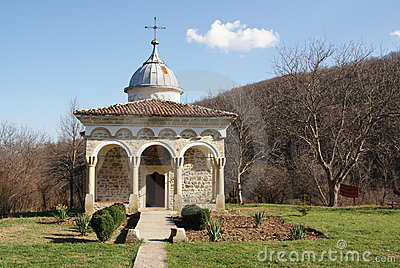 Typical ancient rocky orthodox monastery