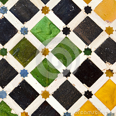 Free Typical Andalusian Mosaic, Spain Royalty Free Stock Images - 25101699