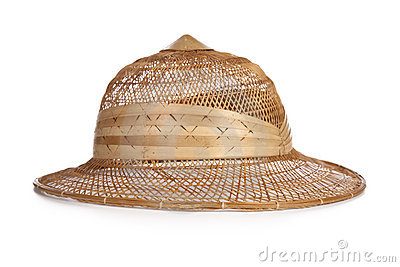Typical bamboo hat