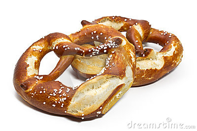 Typical bavarian pretzels