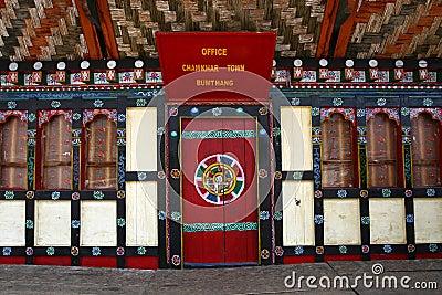 Typical Bhutanese door and windows