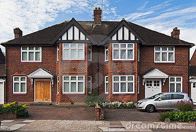 Typical British Brick House London England