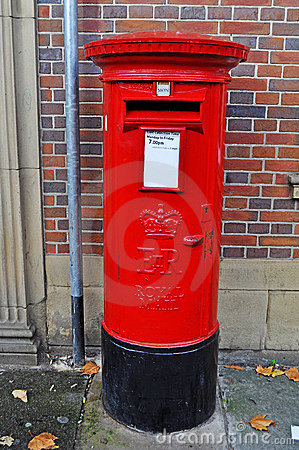 Typical British post box