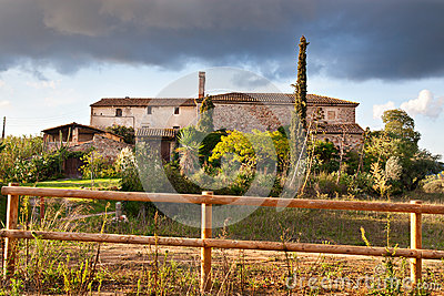 Typical Catalan farmhouse