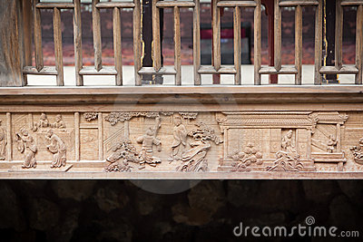 Typical Chinese old style woodcarving