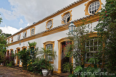 Typical Colonial House in Tiradentes Brazil.