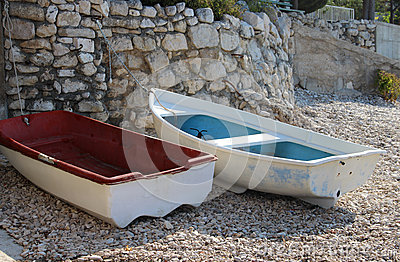 Typical Croatian boats