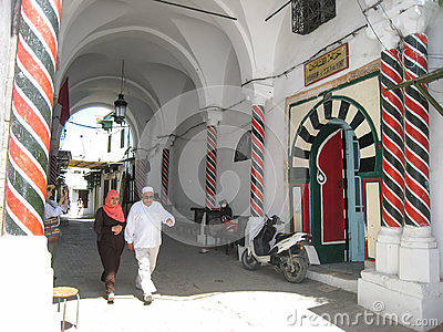 A Hamam in the medina. Tunis. Tunisia Editorial Photo