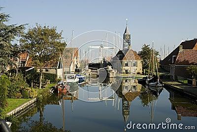 Typical Dutch small village