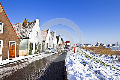 Typical dutch village Durgerdam  in the Netherlands