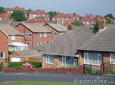 Typical English housing estate
