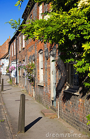 A typical English street in summer