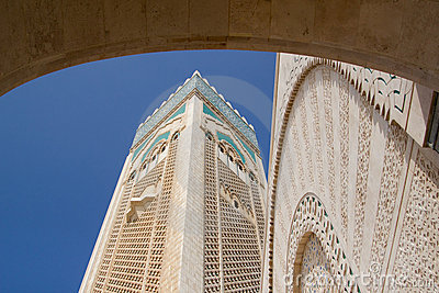 Typical exterior detail of  Mosque in Casablanca
