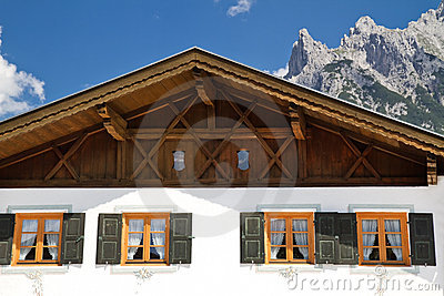 Typical farmhouse in South Bavaria