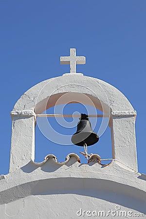 A typical greek belfry
