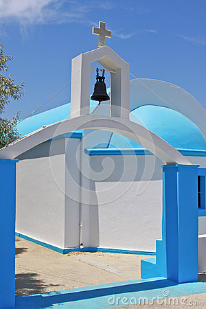 Typical greek chapel